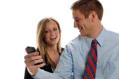 biznesmenów telefon komórkowy potomstwa Zdjęcia Royalty Free