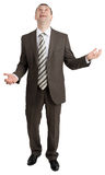 Biznesmen żongluje niewidzialne rzeczy obraz stock
