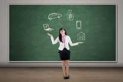 Biznesmen żongluje symbolizujący odpowiedzialność Obraz Stock