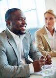 biznesmen afrykańskiej zdjęcie stock