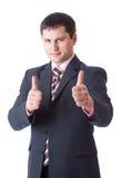 biznesmen aprobaty zdjęcia stock