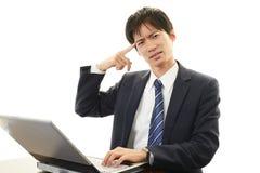 biznesmen azjatykci podkreślić Obrazy Stock