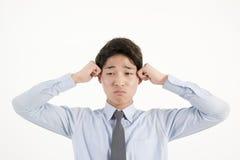 biznesmen azjatykci podkreślić Zdjęcie Stock