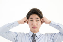 biznesmen azjatykci podkreślić Zdjęcia Stock