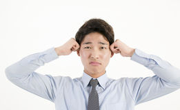 biznesmen azjatykci podkreślić Fotografia Stock