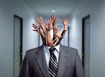 Biznesmen bez głowy obrazy royalty free