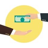 Biznesmen bierze pieniądze od innego biznesmena Obraz Stock