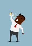 Biznesmen bierze witaminy od butelki Obraz Royalty Free