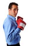 biznesmen bokserskie rękawice obraz stock