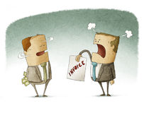 Biznesmen chuje pieniądze zapłatę Zdjęcia Stock