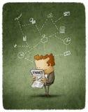 Biznesmen czytający Zdjęcia Stock