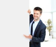 Biznesmen demonstruje projekt Obraz Stock