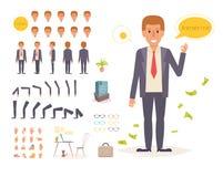 Biznesmen dla animaci pozy ilustracja wektor