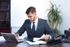 biznesmen dof niższe biurowe young pracy Zdjęcia Royalty Free