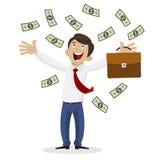 Biznesmen dostać ogromną ilość pieniądze Zdjęcia Royalty Free