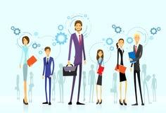 Biznesmen drużyny grupa, działu zasobów ludzkich mieszkanie ilustracja wektor