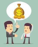 Biznesmen dyskusja ilustracji