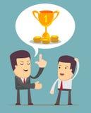 Biznesmen dyskusja royalty ilustracja