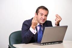 biznesmen emocjonalny Zdjęcia Stock