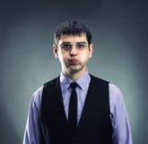 Biznesmen grimacing zdjęcie stock