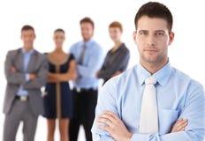 Biznesmen i drużyna Obrazy Royalty Free