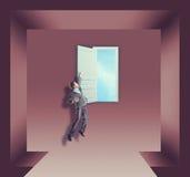 Biznesmen i drzwi zdjęcie royalty free