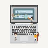 Biznesmen i internet ochrony pojęcie Zdjęcia Royalty Free