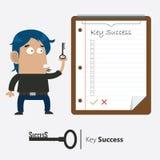 Biznesmen i klucz sukces Obraz Royalty Free