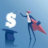 Biznesmen i magia ilustracji