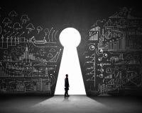 Biznesmen i plan biznesowy Obraz Stock