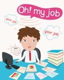 Biznesmen i pracowity ilustracja wektor