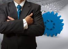 Biznesmen i przekładnia sukces Zdjęcie Stock