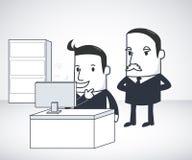 Biznesmen i szef royalty ilustracja