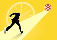 Biznesmen i wskazywać strzały, biznes, szansa, sukces conc ilustracja wektor