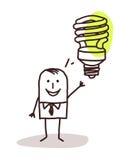Biznesmen i zieleń pomysł ilustracji