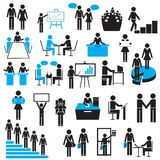 Biznesmen ikona Zdjęcia Royalty Free