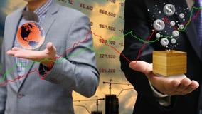 Biznesmen inwestycja w własności Fotografia Stock