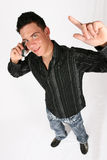 biznesmen jego telefon Fotografia Stock