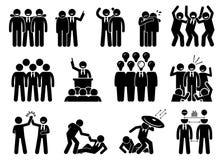 Biznesmen jest liderem ilustracja wektor