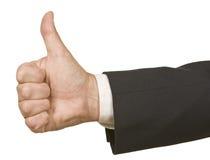 biznesmen kciuki w górę Zdjęcie Stock