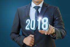 Biznesmen klika dalej 2018 Obraz Stock