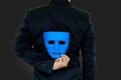 Biznesmen kryjówka maska Fotografia Royalty Free