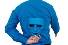 Biznesmen kryjówka maska Zdjęcie Royalty Free