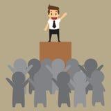 Biznesmen lider royalty ilustracja