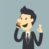Biznesmen mówi Cześć Zdjęcie Stock