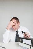biznesmen męczący Zdjęcia Stock