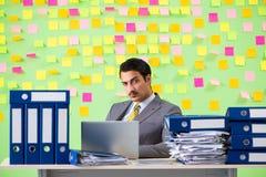 Biznesmen ma kłopot z jego priorytetami zdjęcia royalty free
