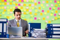 Biznesmen ma kłopot z jego priorytetami obraz royalty free