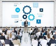 Biznesmen Ma prezentację O pracie zespołowej Obrazy Stock