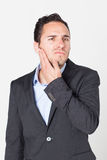 Biznesmen ma toothache Zdjęcie Stock